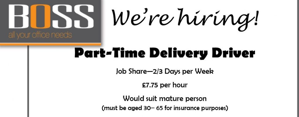 VACANCY – Part-time Delivery Driver