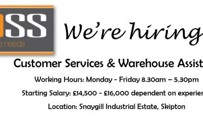 VACANCY – Customer Services & Warehouse Assistant