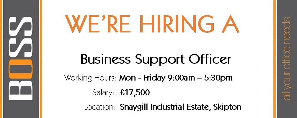 JOB VACANCY – Come and work with Us